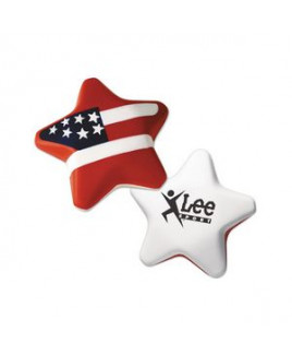 Red White And Blue Patriotic Star Stress Shape