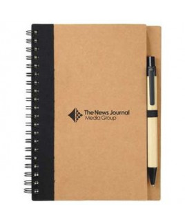 """5"""" x 7"""" Eco Spiral Notebook with Pen"""