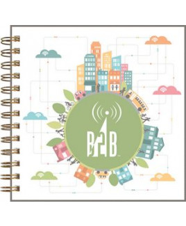 """ClearView™ Square NoteBook Journal (7""""x7"""")"""
