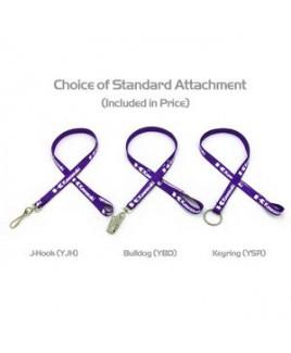 "3/8"" Silkscreened Flat Lanyard w/ a Key Ring"
