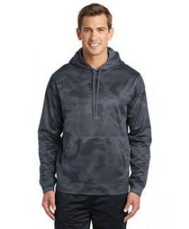 Sport-Tek® Men's Sport-Wick® Camohex Fleece Hooded Pullover