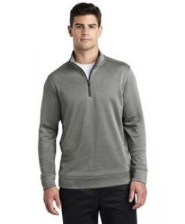 Sport-Tek® Men's PosiCharge® Sport-Wick® Heather Fleece 1/4-Zip Pullover