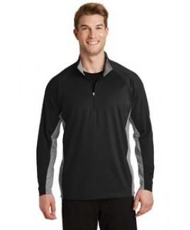 Sport-Tek® Men's Sport-Wick® Stretch Contrast 1/2-Zip Pullover Sweatshirt