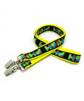 """1"""" Woven Lanyard w/ Double Standard Attachment"""