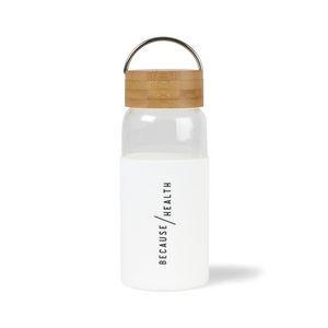Tahiti Bamboo Glass Bottle - 18 Oz. White