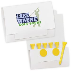 """BIC Graphic® 6-2 Golf Tee Packet - Value Pak w/2 1/8"""" Tees"""
