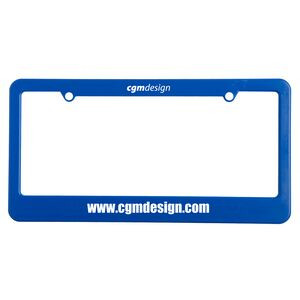 License Plate Frame w/ 2 Holes & Straight Bottom