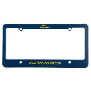 License Plate Frame w/ 4 Holes & Straight Bottom