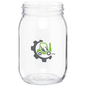 16oz Mason Jar (Clear)