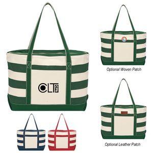 Cotton Canvas Nautical Tote Bag