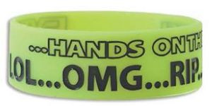 """1"""" Silicone Band Jumbo Debossed w/Color Fill"""