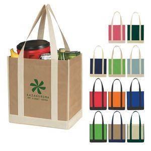Non-Woven Two-Tone Shopper Tote Bag