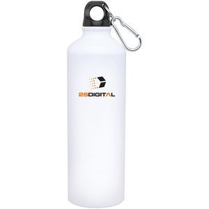 24oz H2go Aluminum Classic Bottle (White)