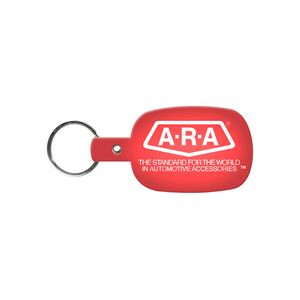 Round Rectangle Flexible Key Tag
