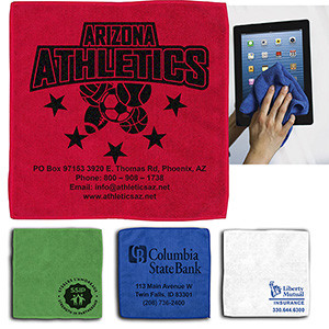 """12""""x 12"""" """"Lily"""" 300GSM Heavy Duty Microfiber Cleaning Towel & Screen Cleaner"""
