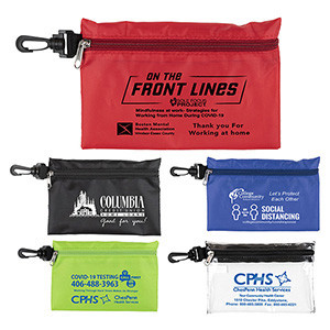 """Milos"" Large Zipper Storage Pouch Bag w/Plastic Hook (Overseas)"