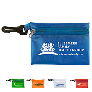 """Bali"" Translucent Zipper Storage Pouch Bag w/Plastic Hook (Overseas)"