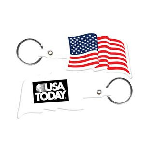 US Flag Flexible Key Tag