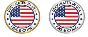 """1 3/4"""" Coin w/Special Effect & Raised Detail"""