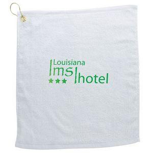 BIC Graphic® White Golf Towel w/Metal Grommet