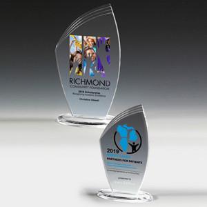 """Screen Printed Allure Acrylic Award (4 1/2""""x 7 1/4""""x 3/8"""")"""