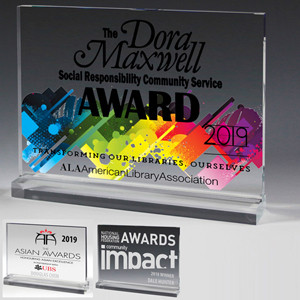 "Mini Billboard Acrylic Award w/4-Color Process (6""x 4 1/2""x 1/2"")"