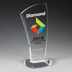 "Progressive Award - Laser Engraved - (4¾"" X 9½"")"