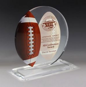 "Football Achievement Award- Screen Printed - (5¾"" x 6¼"")"