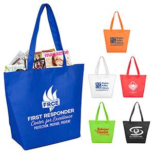 """Camarillo"" Gusseted Shopping, Grocery & Tote Bag w/Hook & Loop Closure"