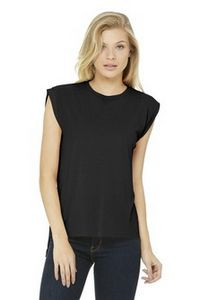 Bella+Canvas® Women's Flowy Muscle Tee Shirt w/Rolled Cuffs
