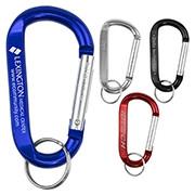 """Cara L"" Large Size Carabiner Keyholder w/Split Ring Attachment"