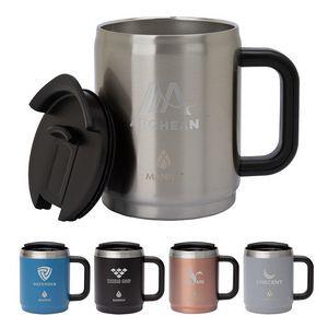 Manna 14 oz. Boulder Stainless Steel Camping Mug w/ Handle