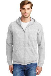 Hanes® Men's EcoSmart® Full-Zip Hooded Sweatshirt