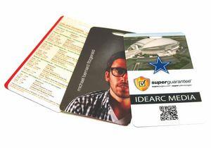 """3.5"""" x 4"""" Laminate Cardstock Lanyard Card - 10 mil"""