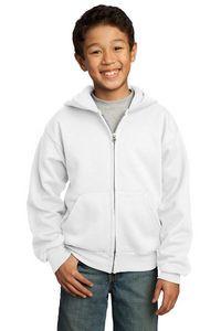 Port & Company® Youth Core Fleece Full-Zip Hooded Sweatshirt