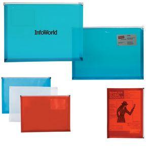PP Zip Closure Envelope w/Business Card Slot