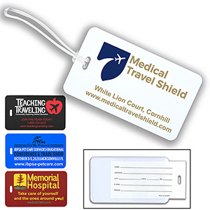 """Thunderbolt Spot"" ID Slip-In Pocket Luggage Bag Tag (Spot Color)"