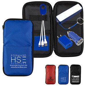 """""""TravPouch Plus"""" Cell Phone Charger Travel Kit"""