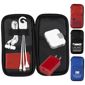 """""""TravPouch"""" Deluxe Cell Phone Charging & Accessory Travel Kit"""