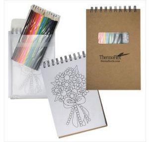 Notebook w/Color Pencils
