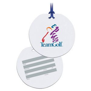 Round Write On Surface Tag - Full Color