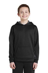 Sport-Tek® Youth Sport-Wick® Fleece Colorblock Hooded Pullover