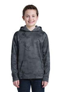 Sport-Tek® Youth Sport-Wick® Camohex Fleece Hooded Pullover