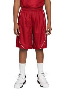 Sport-Tek® Youth PosiCharge® Mesh Reversible Spliced Shorts